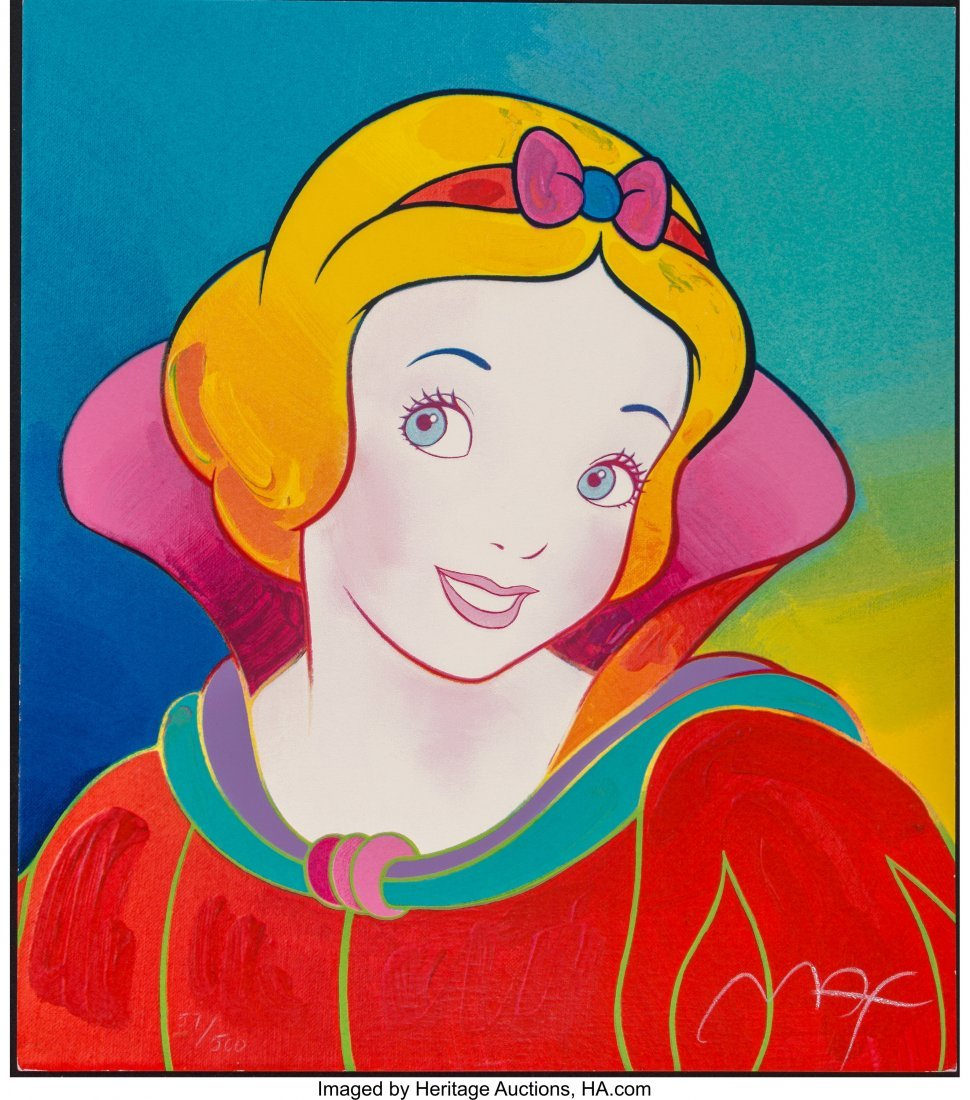 63931: Peter Max (American, b. 1937) Snow White (Red) S - 3