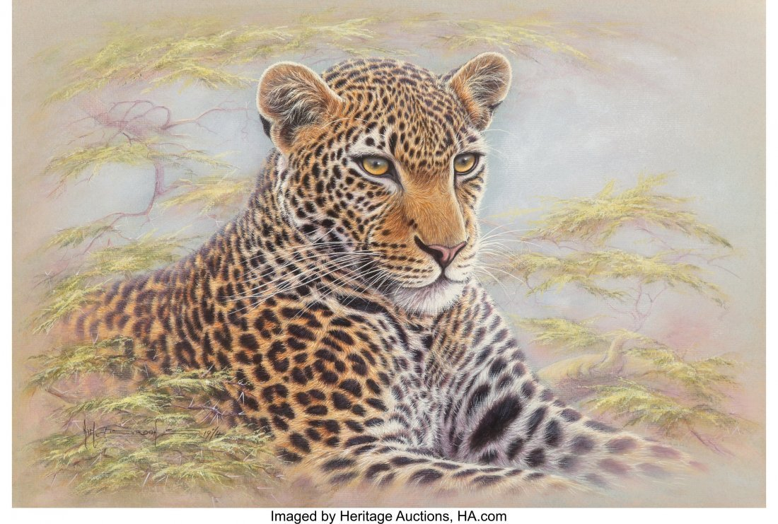63835: Kim Brooks (American/British, b. 1936) Leopard,
