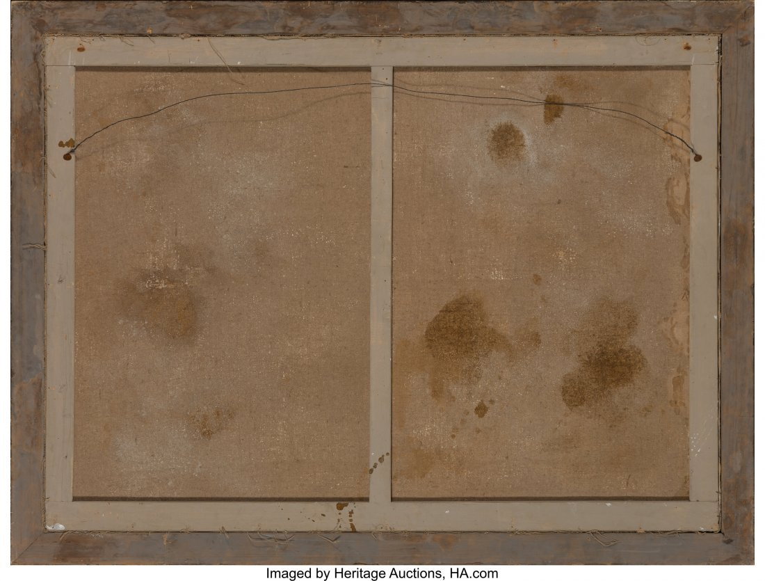 63946: A Large Framed Chinoiserie Painting, late 19th-e - 3