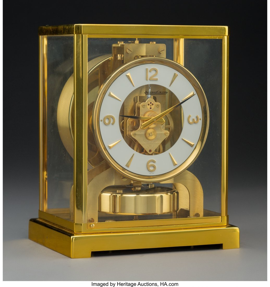 64068: A Jaeger-LeCoultre Brass and Glass Atmos Clock,  - 2
