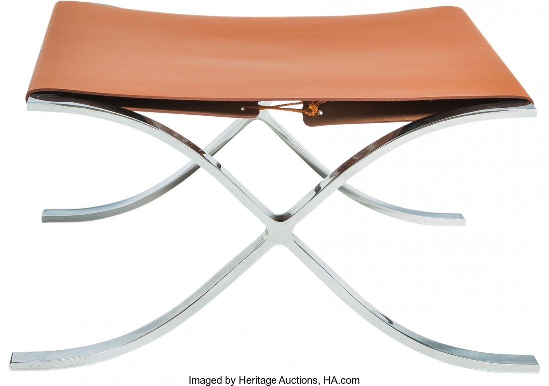 64140: A Ludwig Mies van der Rohe for Knoll Chrome and  - 2