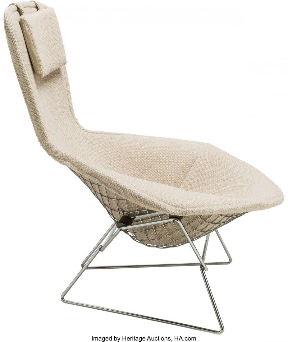 64142: A Harry Bertoia Bird Chair and Ottoman for Knoll - 2