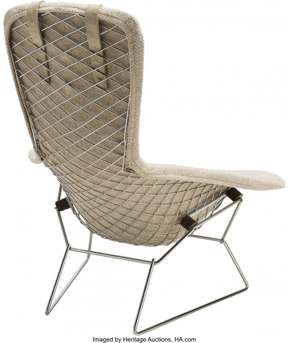 64142: A Harry Bertoia Bird Chair and Ottoman for Knoll - 3