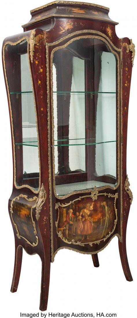 64103: A Louis XV-Style Vernis Martin Bombe Glazed Vitr
