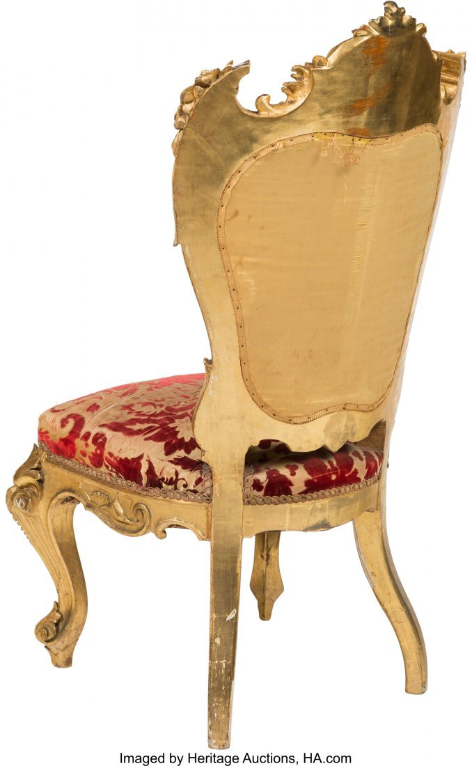 64110: A Pair of Napoleon III Giltwood Chairs with Chin - 3