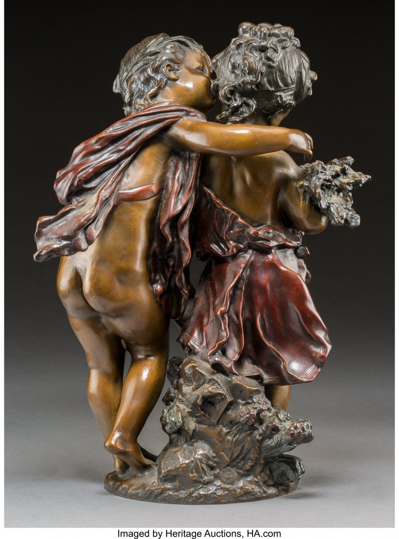 64032: A Cold-Painted Bronze Figural Group After August - 2