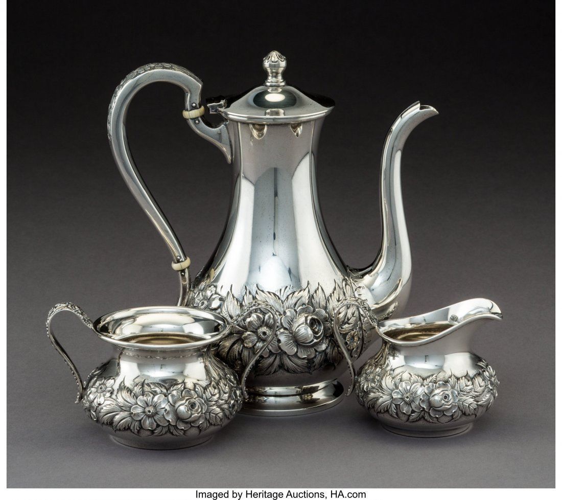 64280: A Three-Piece S. Kirk & Son Silver Coffee Servic - 2