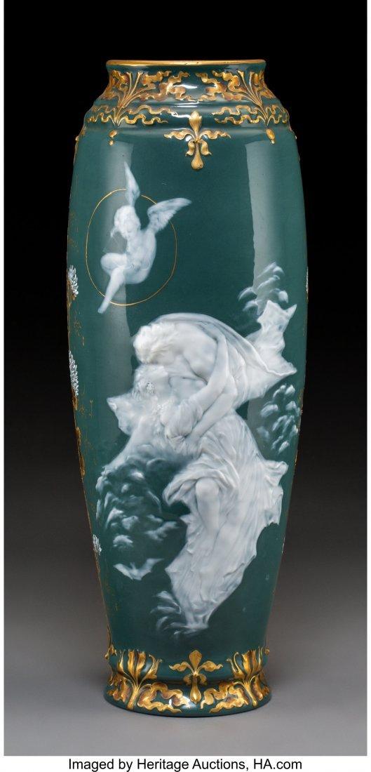 64197: A Continental Pâte-sur-Pâte Porcelain Vase, ci
