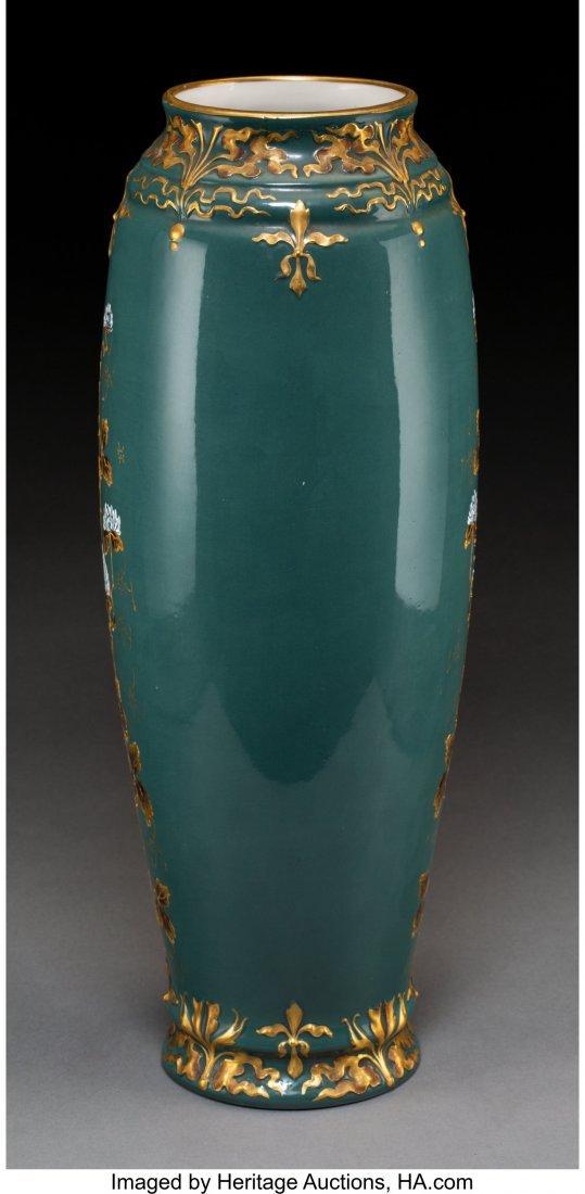 64197: A Continental Pâte-sur-Pâte Porcelain Vase, ci - 2