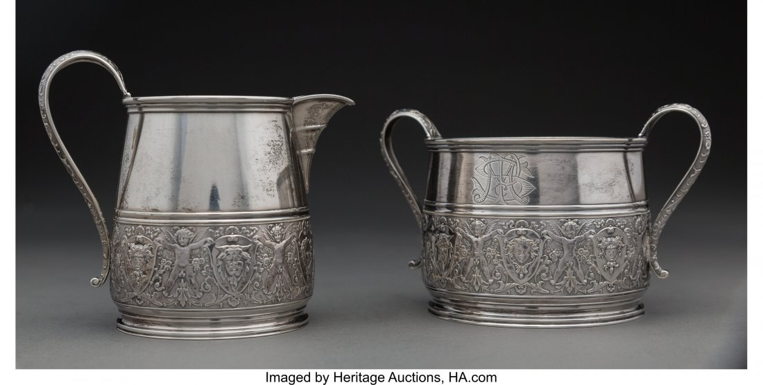 64282: A Starr & Marcus Parcel-Gilt Silver Creamer and