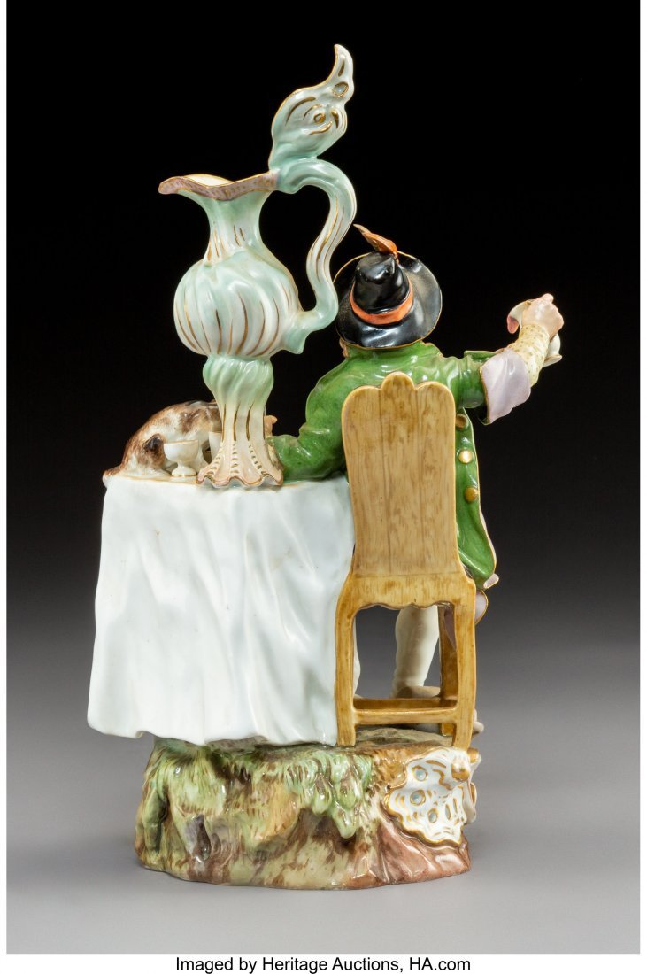 64206: A Meissen Polychromed and Gilt Porcelain Figural - 2