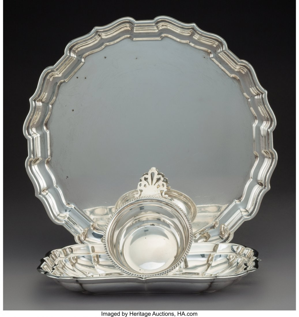 64310: A Group of Three Reed & Barton Silver Tablewares
