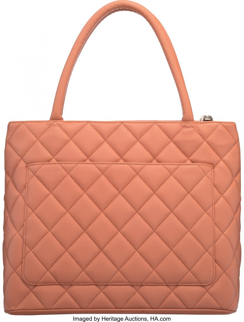 58007: Chanel Rose Quilted Caviar Leather Medallion Tot - 2
