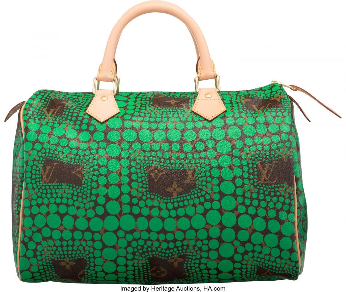 58101: Louis Vuitton x Yayoi Kusama Monogram & Green Do