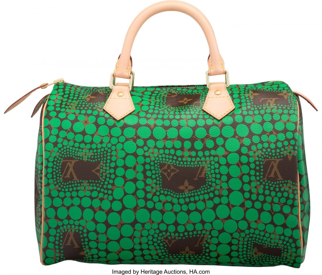 58101: Louis Vuitton x Yayoi Kusama Monogram & Green Do - 2