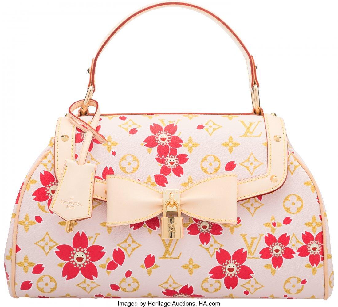 58107: Louis Vuitton Monogram Red Cherry Blossom Sac Re