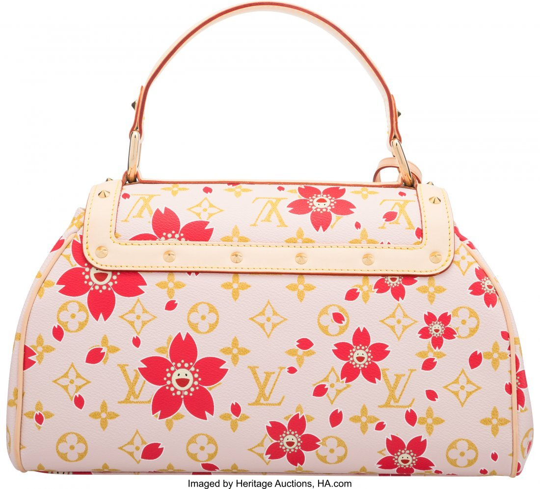 58107: Louis Vuitton Monogram Red Cherry Blossom Sac Re - 2