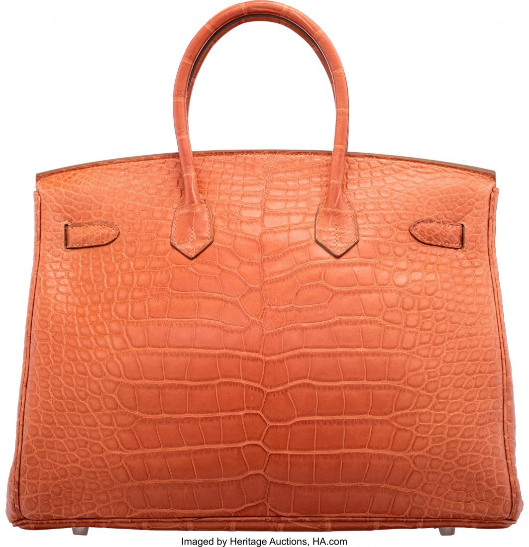 58202: Hermes 35cm Sanguine Alligator Birkin Bag with P - 2