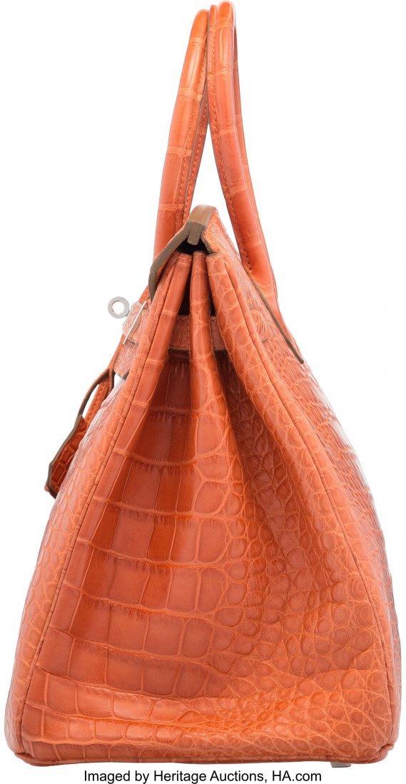 58202: Hermes 35cm Sanguine Alligator Birkin Bag with P - 3