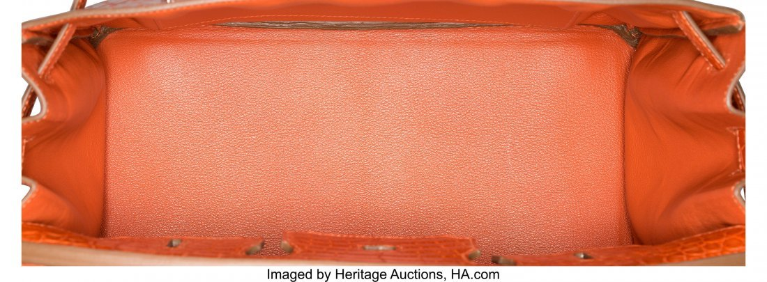 58202: Hermes 35cm Sanguine Alligator Birkin Bag with P - 5