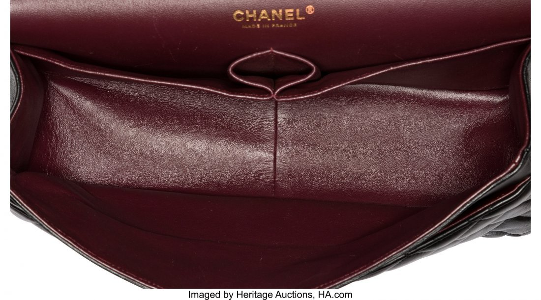 58058: Chanel Black Quilted Lambskin Leather Jumbo Clas - 4