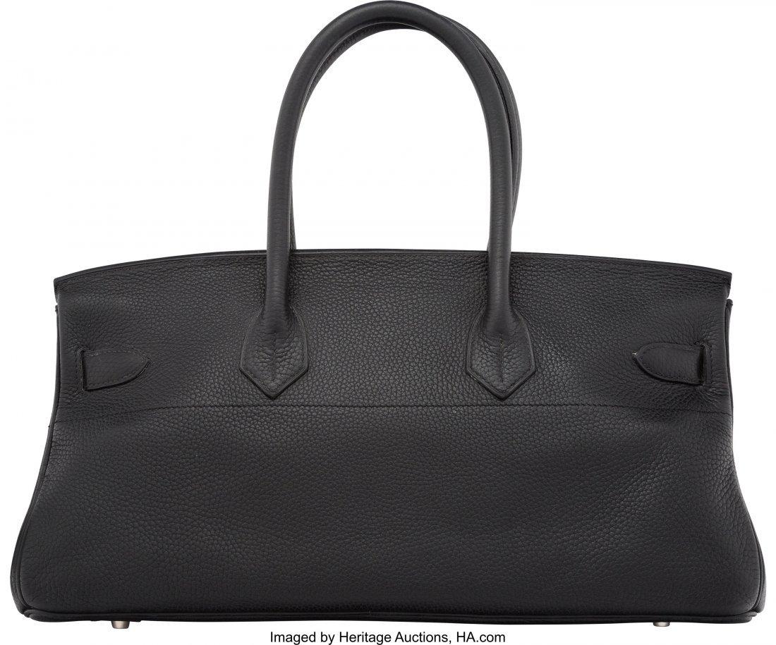 58148: Hermes 42cm Black Clemence Leather JPG Birkin Ba - 2