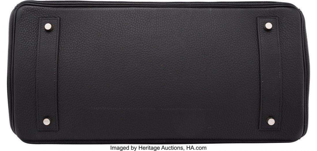 58148: Hermes 42cm Black Clemence Leather JPG Birkin Ba - 3