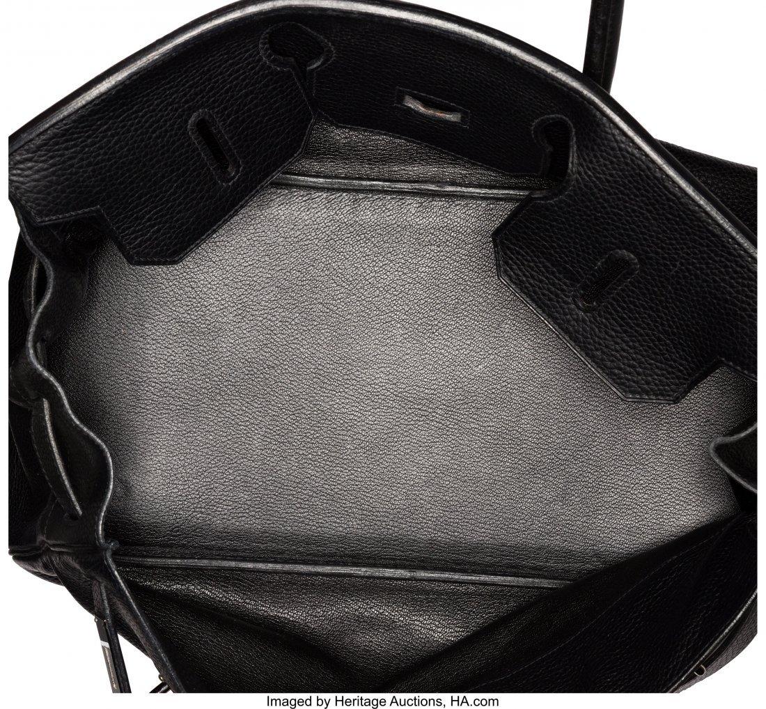 58148: Hermes 42cm Black Clemence Leather JPG Birkin Ba - 4