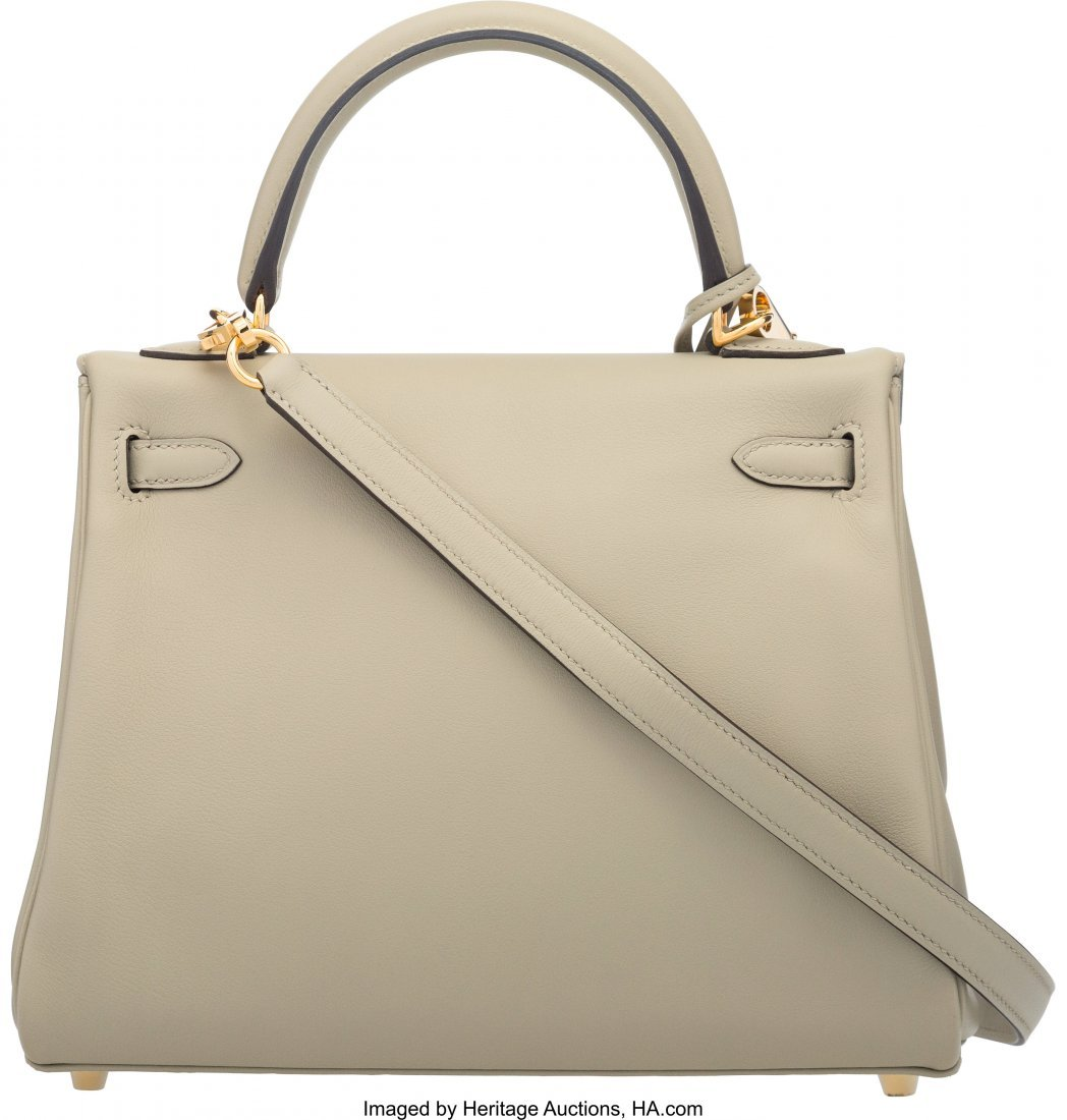 58269: Hermes 25cm Sage Swift Leather Retourne Kelly Ba - 2