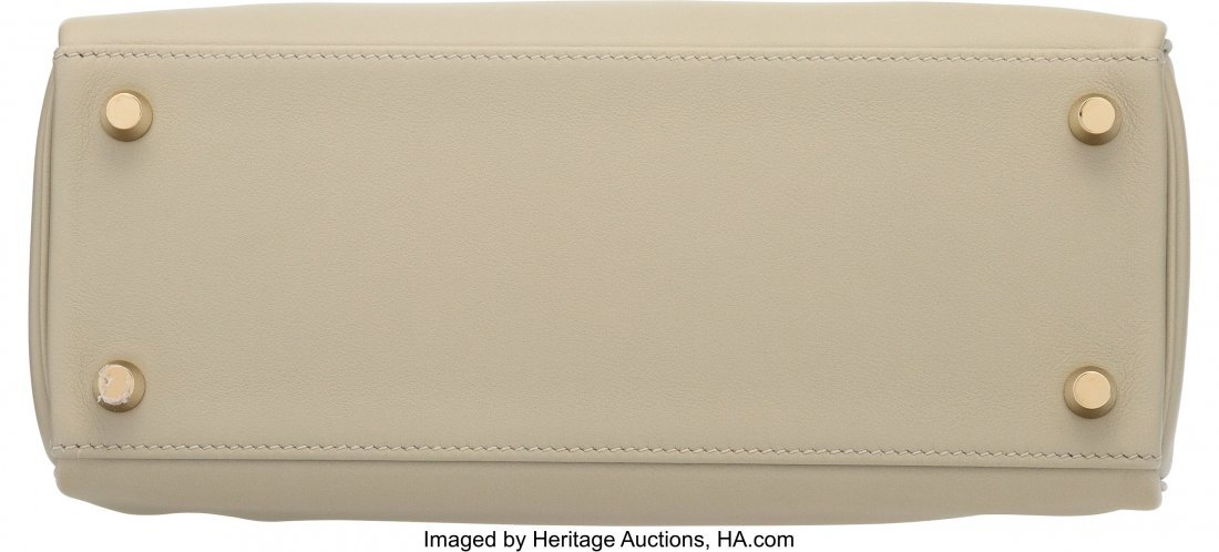58269: Hermes 25cm Sage Swift Leather Retourne Kelly Ba - 4
