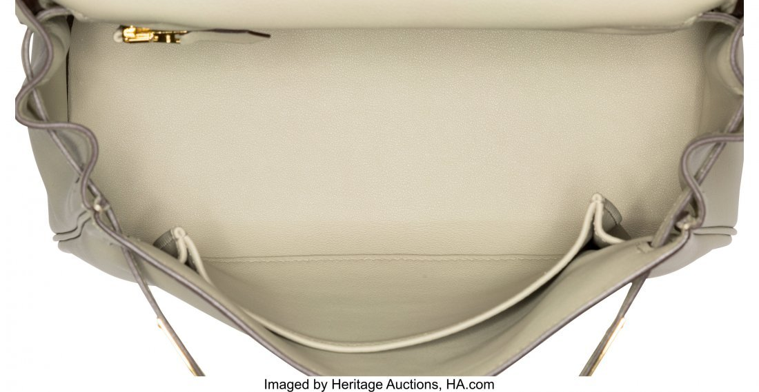 58269: Hermes 25cm Sage Swift Leather Retourne Kelly Ba - 5