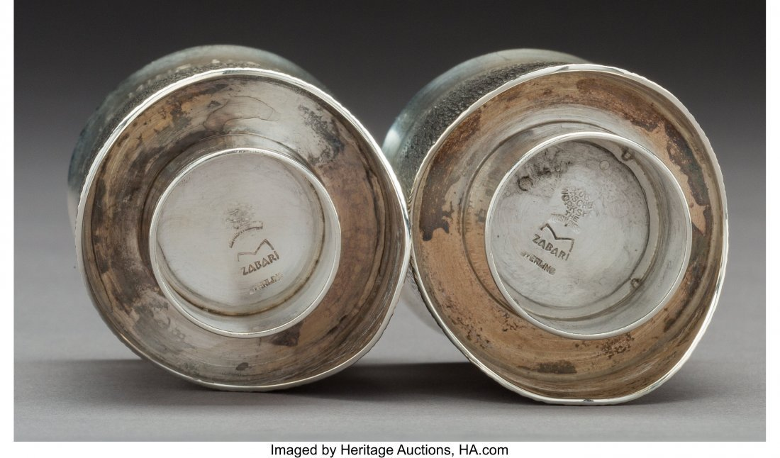 74098: A Moshe Zabari Silver Double Marriage Cup, desig - 4