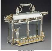 74099: A Yossi Swed Partial Gilt Silver and Glass Menor