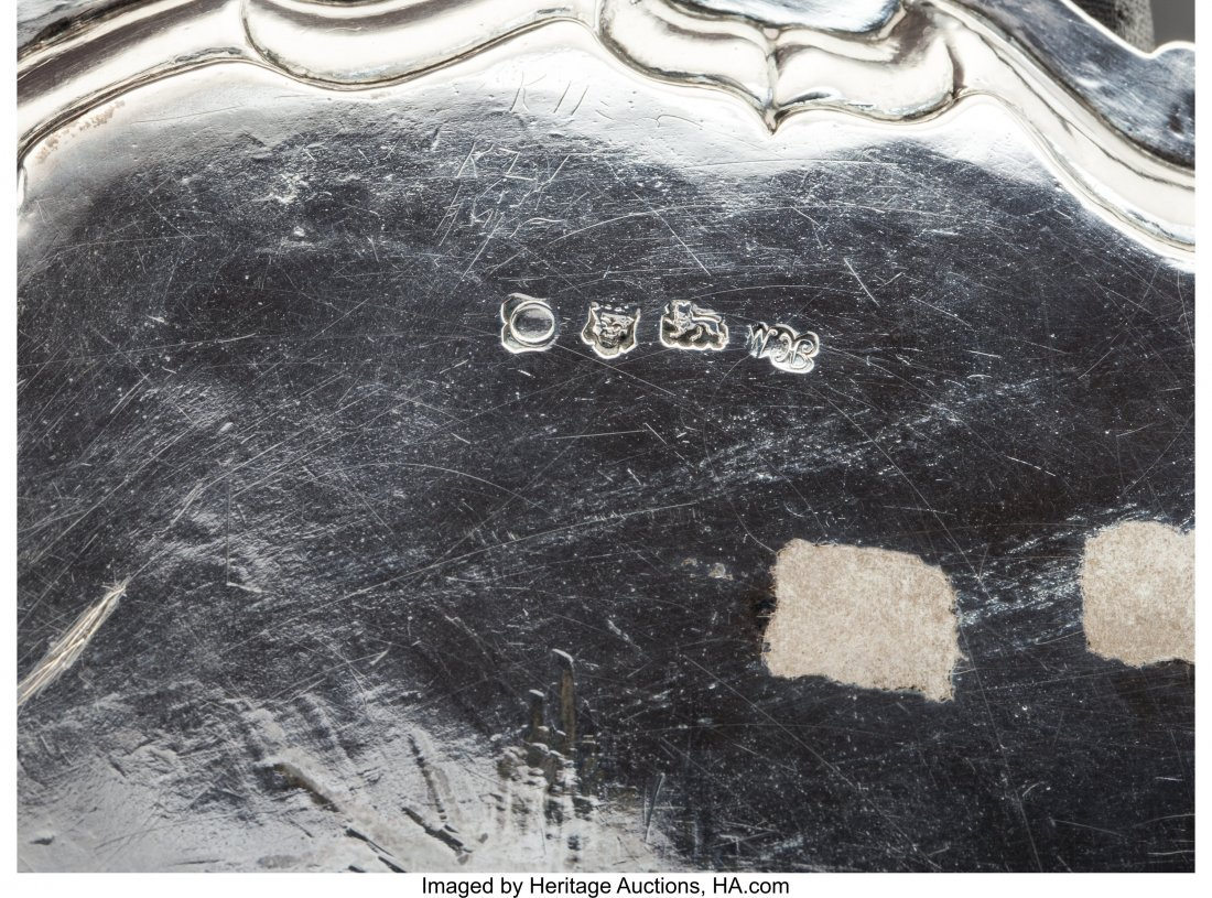 74314: A Hugh Mills Silver Salver, London, 1749 Marks:  - 3