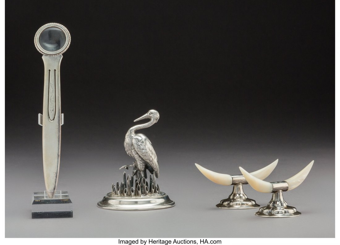 74315: Four British and Continental Silver Table Items,
