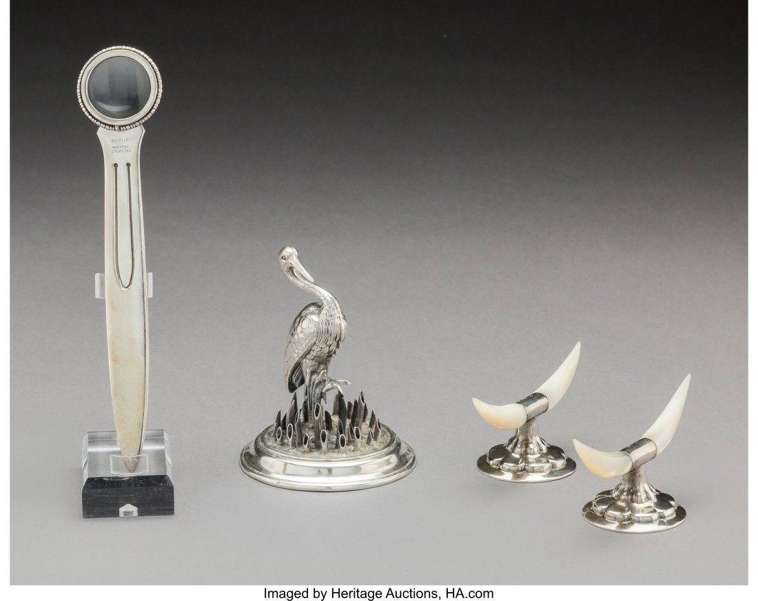 74315: Four British and Continental Silver Table Items, - 2