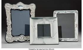 74323 A Cristofle Silver Picture Frame with Two Contin