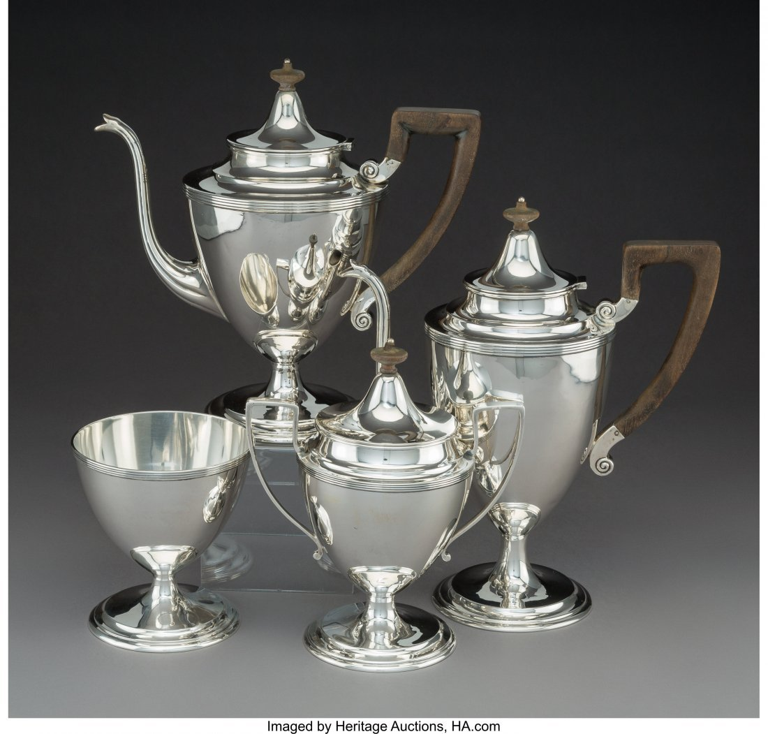 74222: A Four-Piece Dominick & Haff Silver Tea and Coff - 2