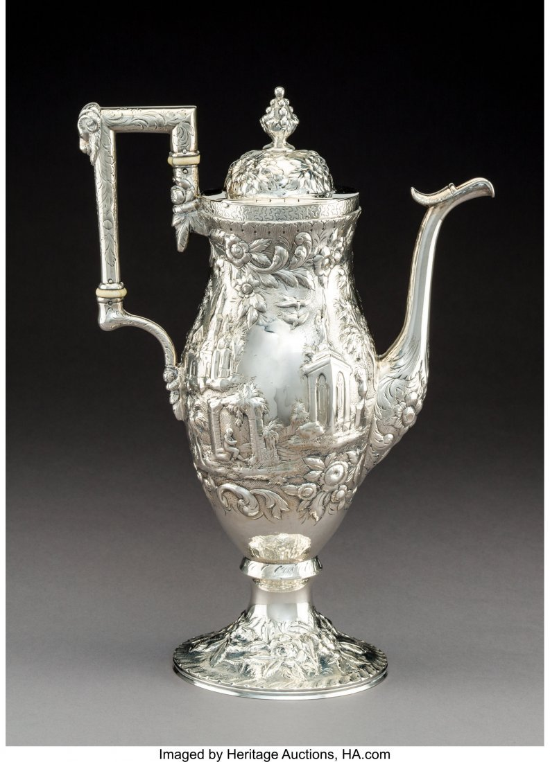 74134: An S. Kirk & Son Coin Silver Coffee Pot with Rep - 2