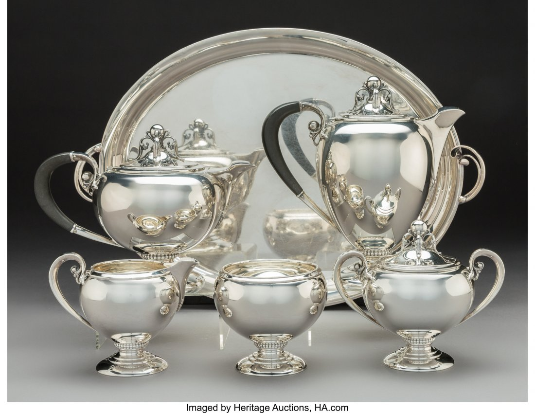 74236: A Five-Piece M. Fred Hirsch Silver Tea & Coffee  - 2