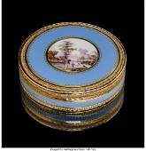 74085 A French Gold and Enamel Snuff Box mid19th cen