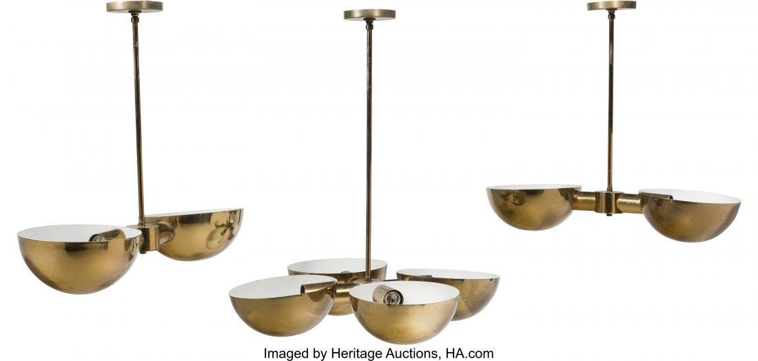 79179: American School (20th Century) Three Ceiling Lam - 3