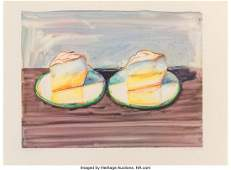 60155: Wayne Thiebaud (b. 1920) Two Meringues, 2002 Lit