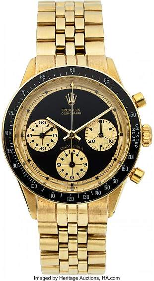 "54391: Rolex, Very Fine and Rare 14k Gold Ref. 6241 ""Pa"