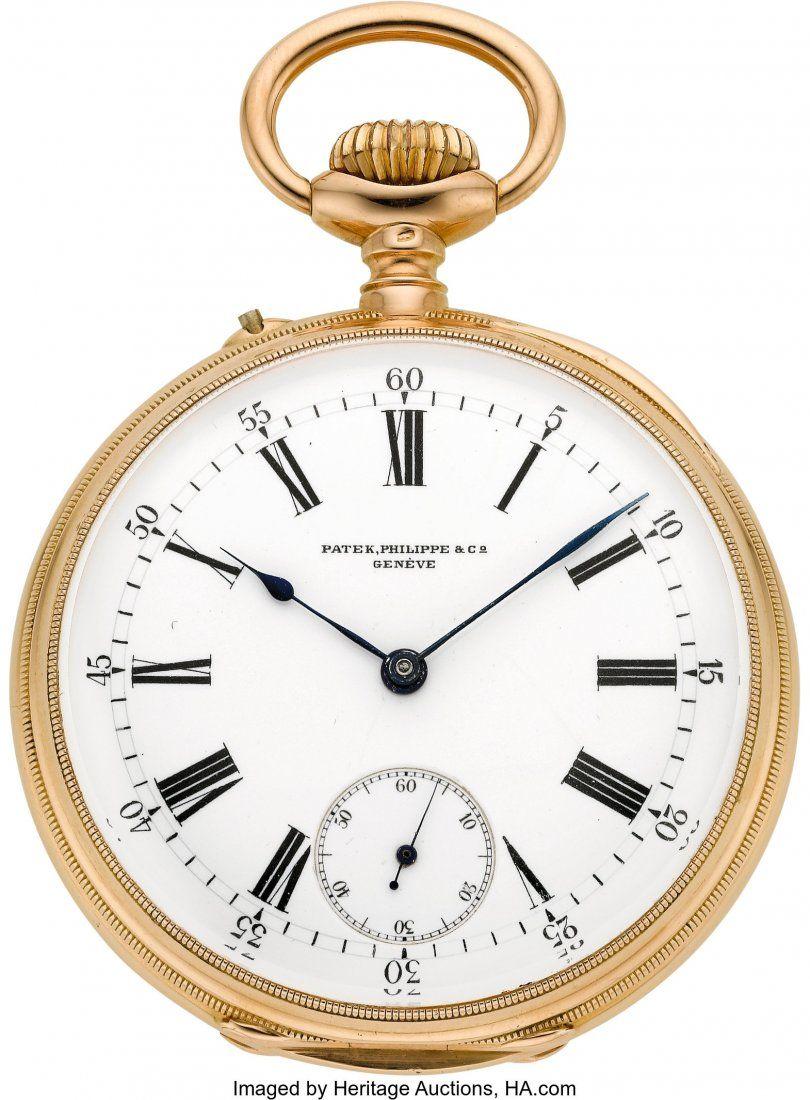54407: Patek Philippe & Co. Gent's Gold Pocket Watch, c