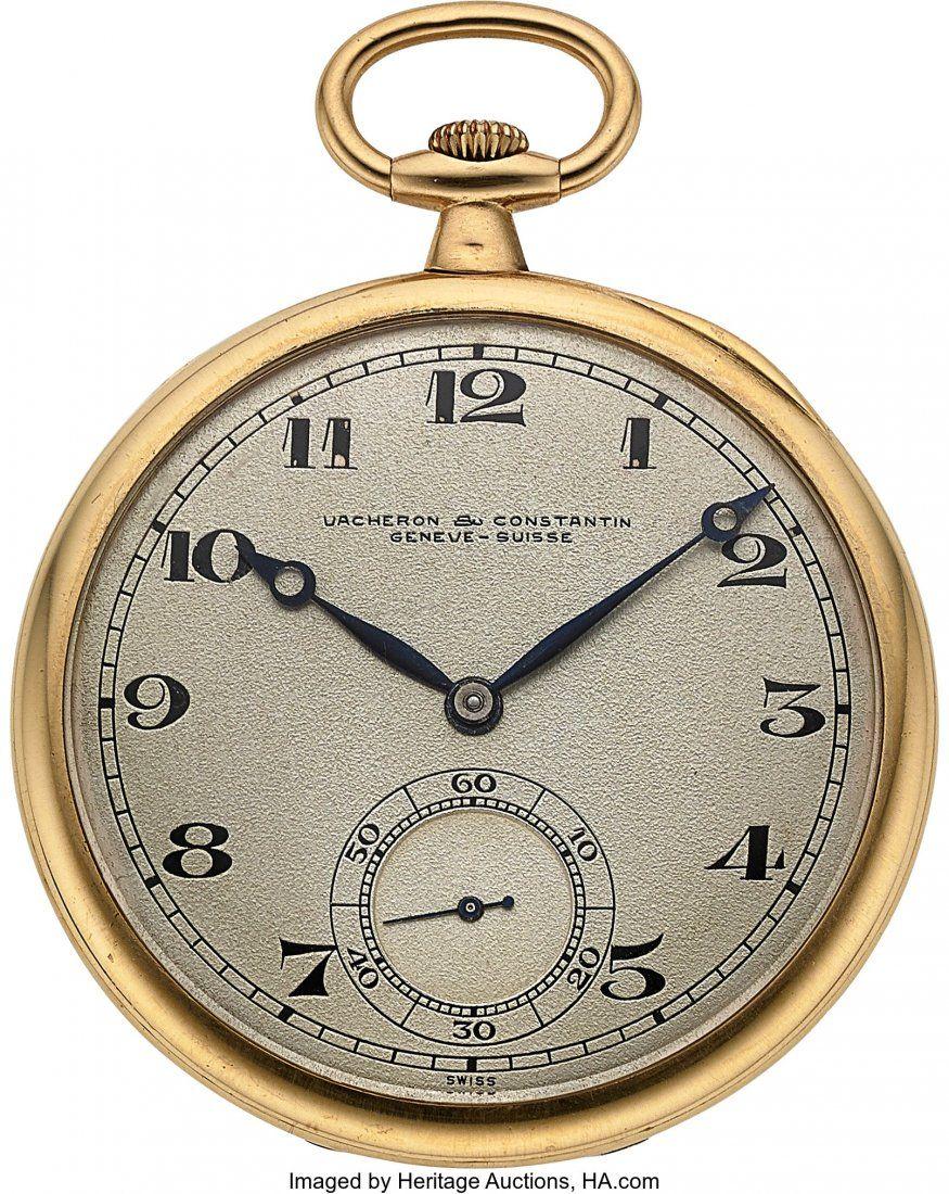 54333: Vacheron & Constantin Fine 18k Gold Pocket Watch