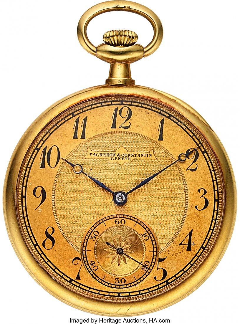 54334: Vacheron & Constantin 18k Gold Pocket Watch, Ori