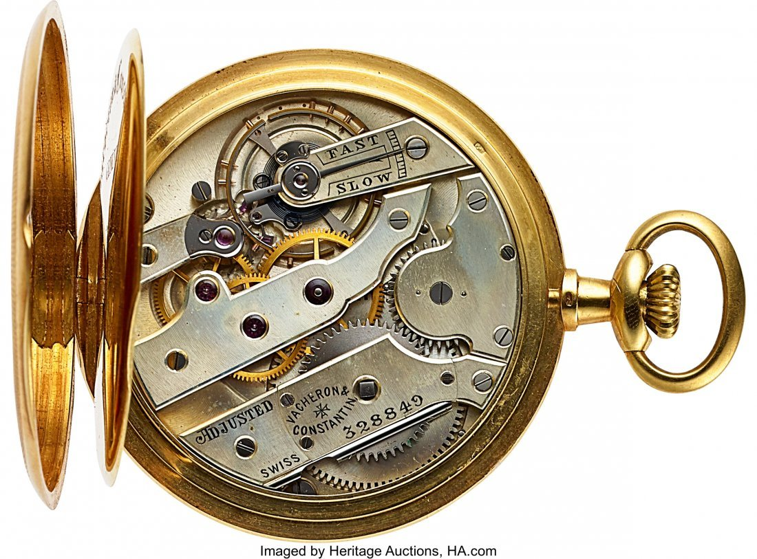 54334: Vacheron & Constantin 18k Gold Pocket Watch, Ori - 3