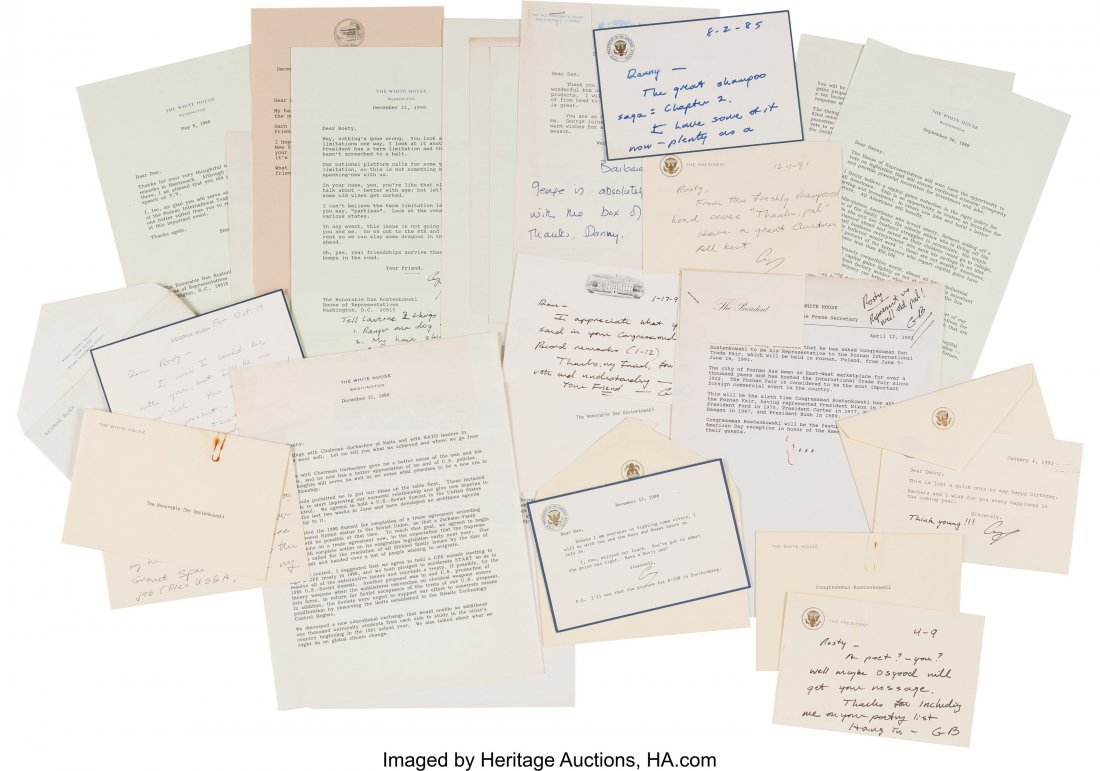 47132: George H. W. Bush Archive. A group composed of s