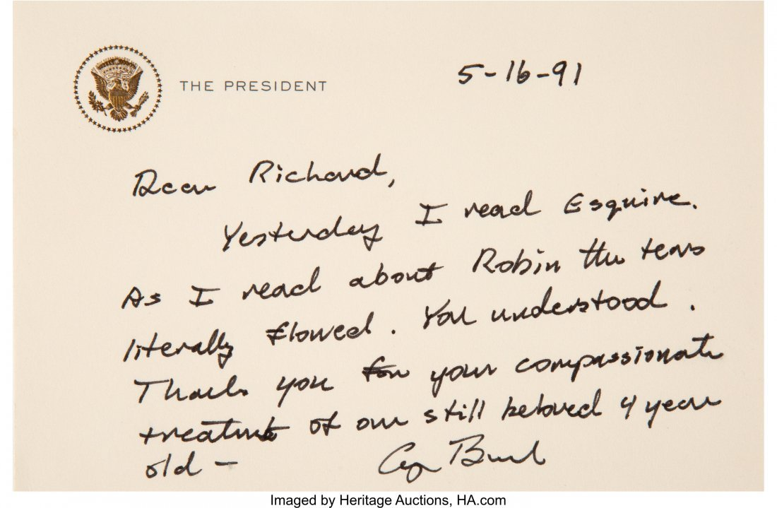 47133: George H.W. Bush Archive of Letters.  A small gr - 9